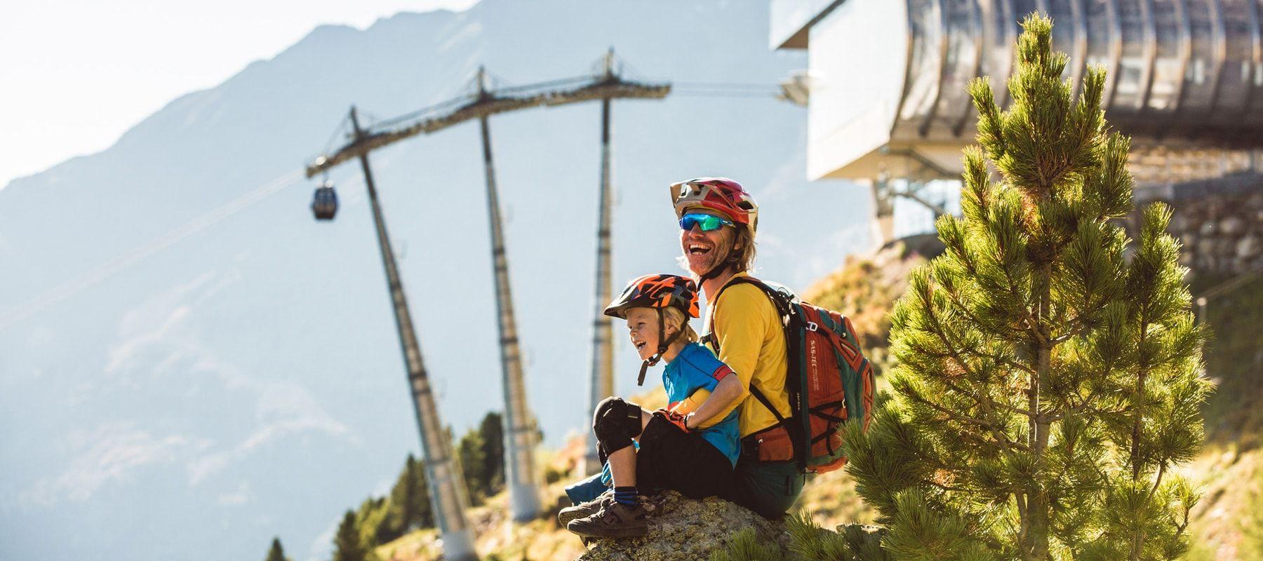 Ötztal-biken-Familie