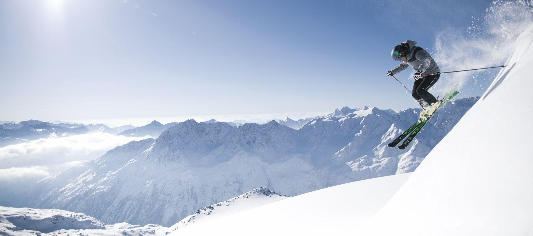 Sölden-Skifahrer