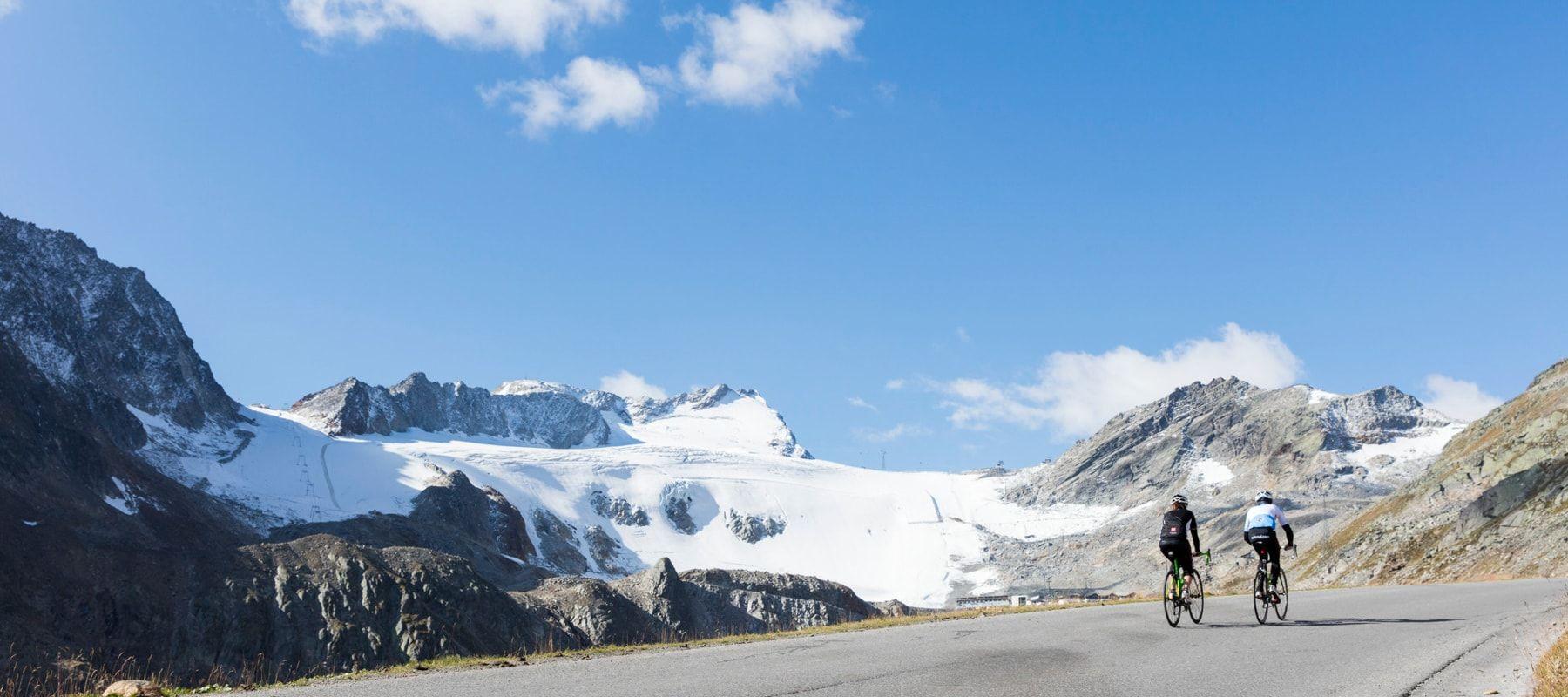 Sölden-Radfahren-Gletscher